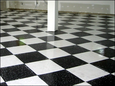 How To Use Epoxy Floor Coating For Checkerboard Garage Floor